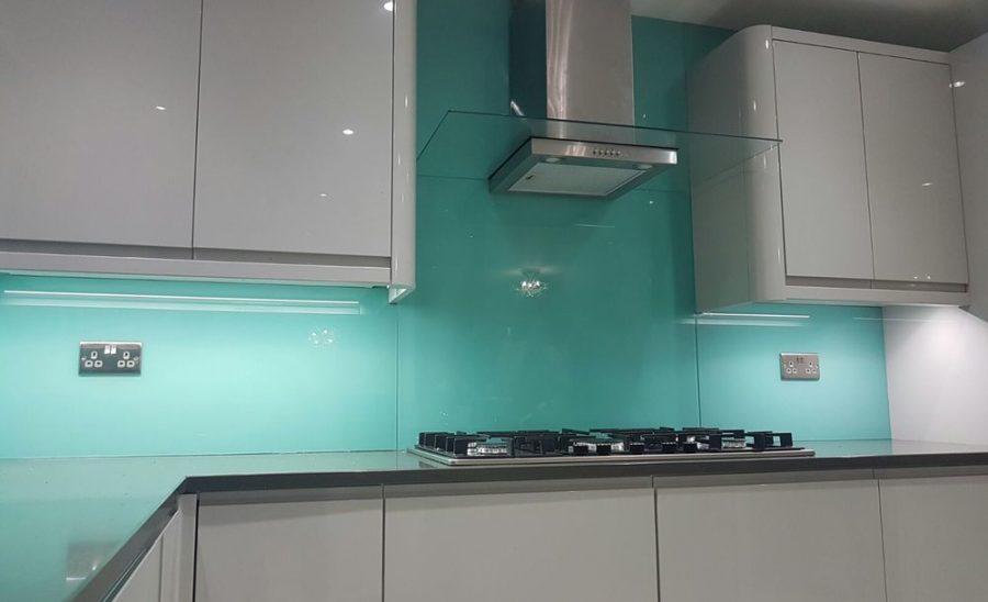 aqua full kitchen glass splashbacks