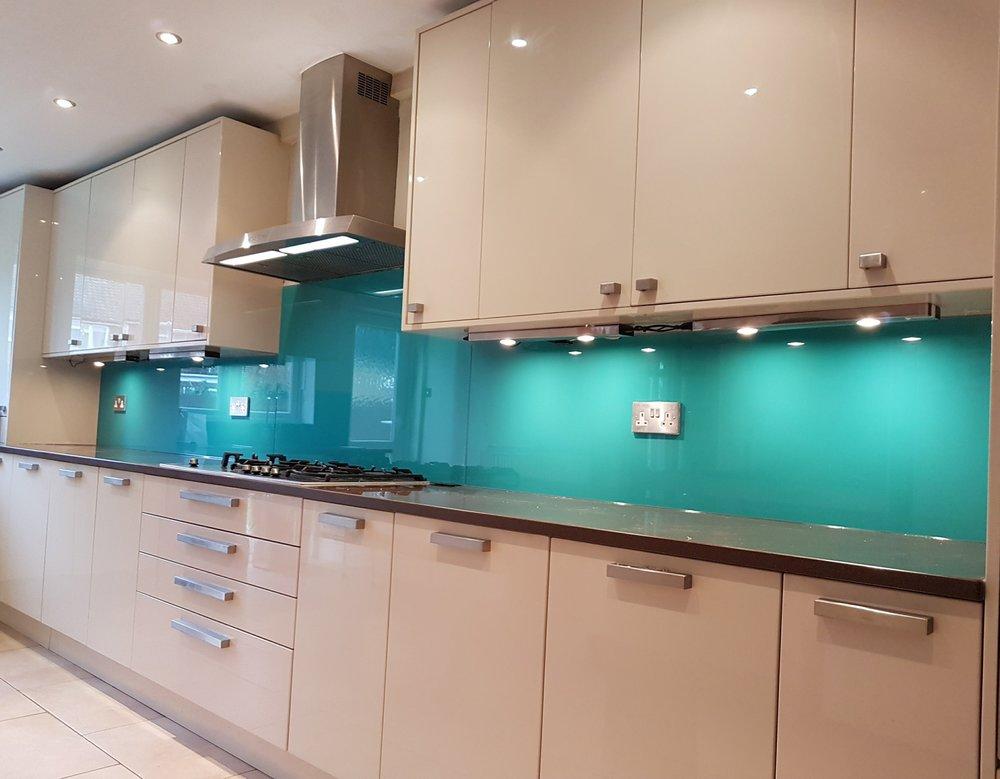 valspar paint colour applied to glass
