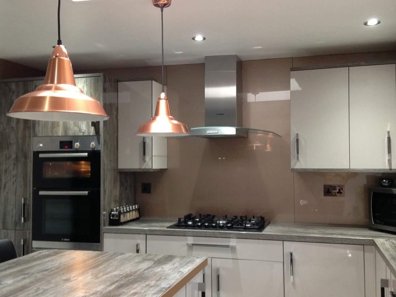 copper colour kitchen glass design
