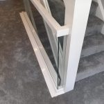 oak handrail with embedded glass balustrades