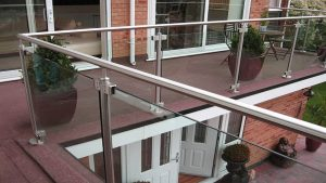 balcony post and rail handrail glass balustrade system
