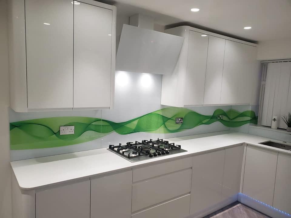 vector wave digitaly printed glass splashback
