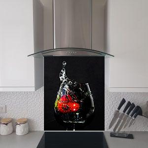 strawberry glass splash
